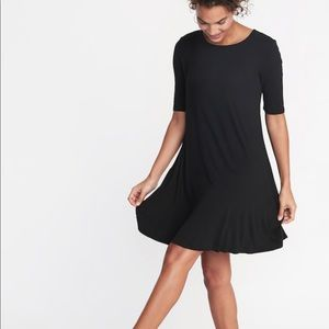 Old Navy Jersey Black Swing Dress Size XL NWT